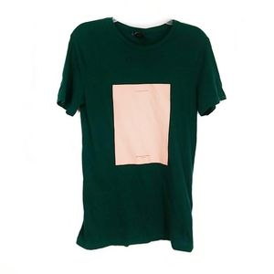H&M The Endless Summer moss green small tshirt